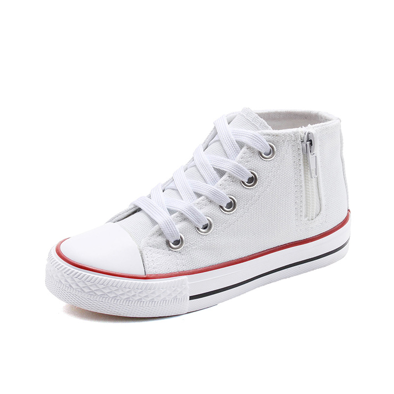 Childrens shoes Student canvas shoes fashion high casual shoes Korean s 2018 new spring breathable sneakers