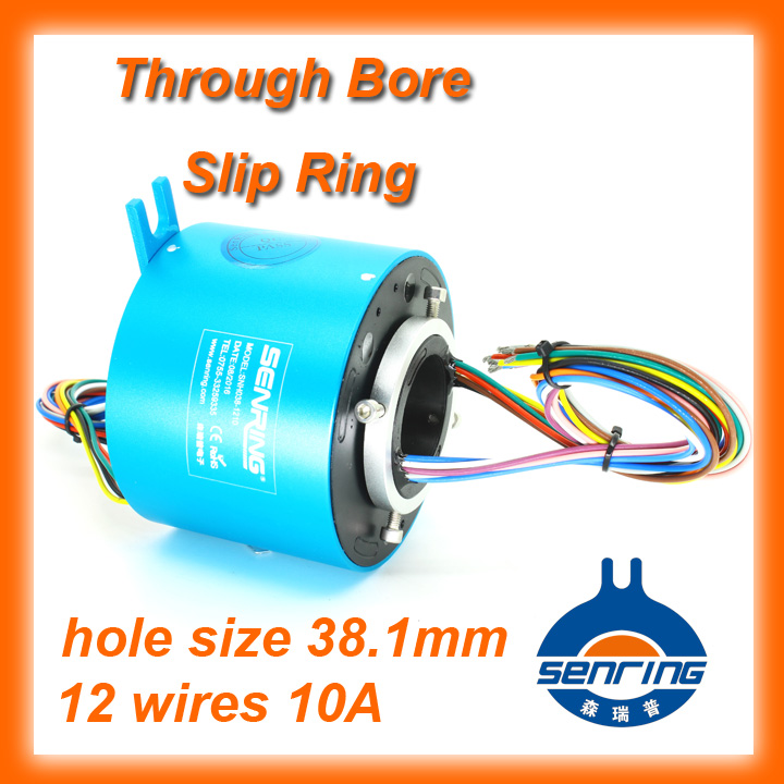 Crane slip rings SENRING 12 wires 10A hole size 38 1mm 600RPM of through bore slip