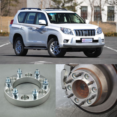 Teeze 4pcs Billet 6 Lug 12*1.5 Studs Wheel Spacers Adapters For Toyota Prado 2003-2013 teeze 4pcs new billet 5 lug 14 1 5 studs wheel spacers adapters for audi q7 2006 2014