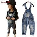 Hot 2016 children overall children's clothing boy girls Jeans denim overalls Children's Wear winter/autumn/spring jongens jeans