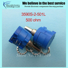 3590S-2-501L 3590S 500 ohm Precision Multiturn Potentiometer 10 Ring Adjustable Resistor(China)