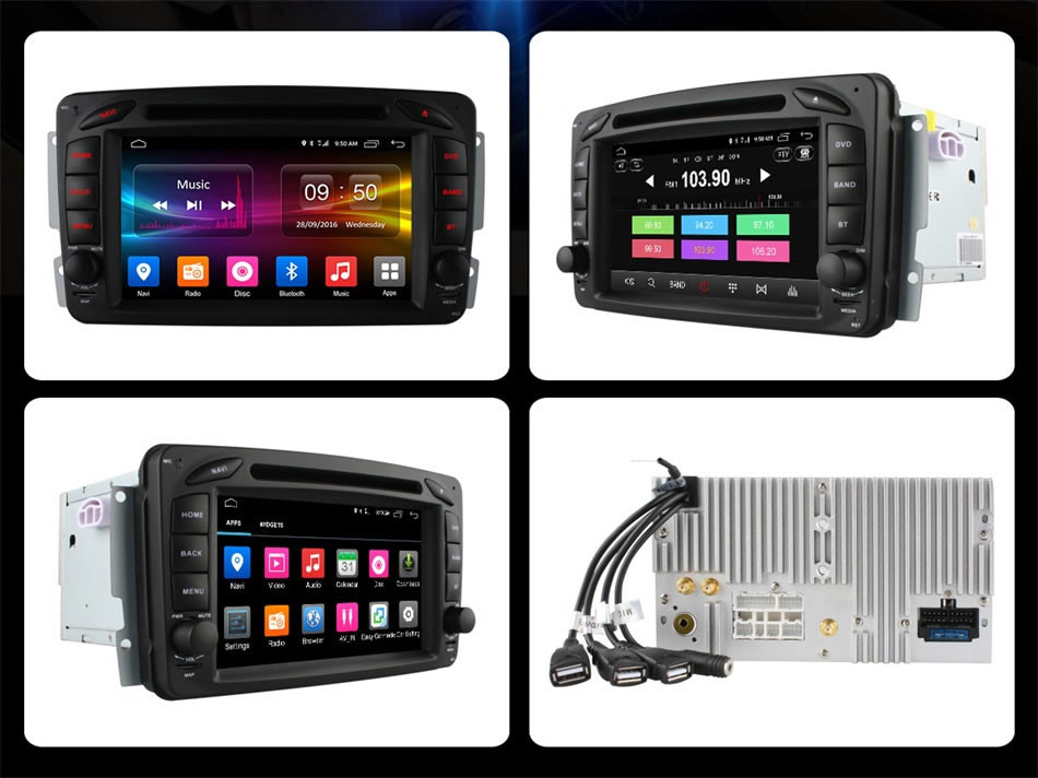 Flash Deal C500 4G SIM Android 6.0 8 Core 2GB RAM Car DVD Player RDS Radio GPS Map WIFI Bluetooth For Benz W163 W168 Viano Vito W463 W210 1