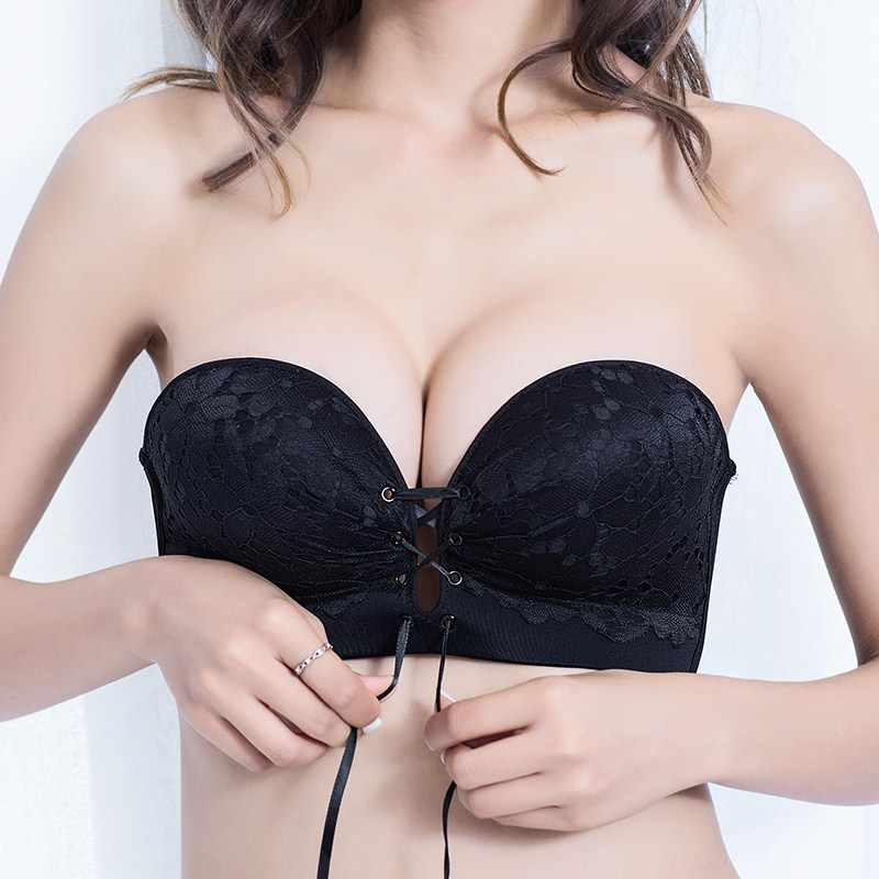 0764222255 Strapless Sexy Invisible Bra Push Up Bralette 3 4 Cup Seemless Lace Bras  Bralette Party