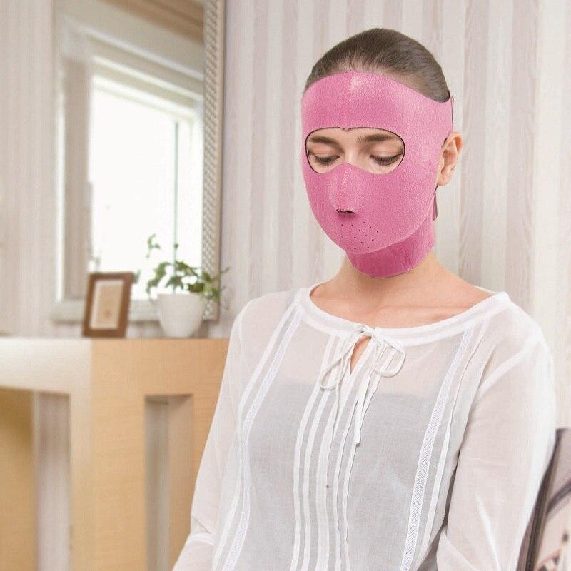 Güzellik ve Sağlık'ten Bakım ve Maskeleri'de Japon Cogit Neopren Yüz Maskeleri Facelift Maskesi Destekler Pembe Germanyum Yüz Sauna Kauçuk Maske Kadınlar Şekli 3D V  yüz'da  Grup 1