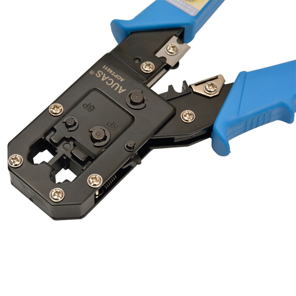 Kualitas tinggi Cat6 Cat5 RJ45 Kabel Crimper Kawat Stripper Tang Alat - Peralatan jaringan - Foto 5