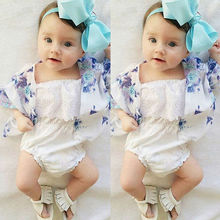Baby Clothes Toddler Girl Romper Cotton White Infant Baby Girl Clothes Lace Floral Ruffles Baby Girl Romper Cake Sunsuit Outfits