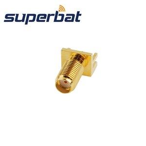 Image 1 - Superbat 10 قطعة SMA نهاية إطلاق جاك قاعدة لوحة دائرة مطبوعة واسعة شفة. 062 (1.57 مللي متر)
