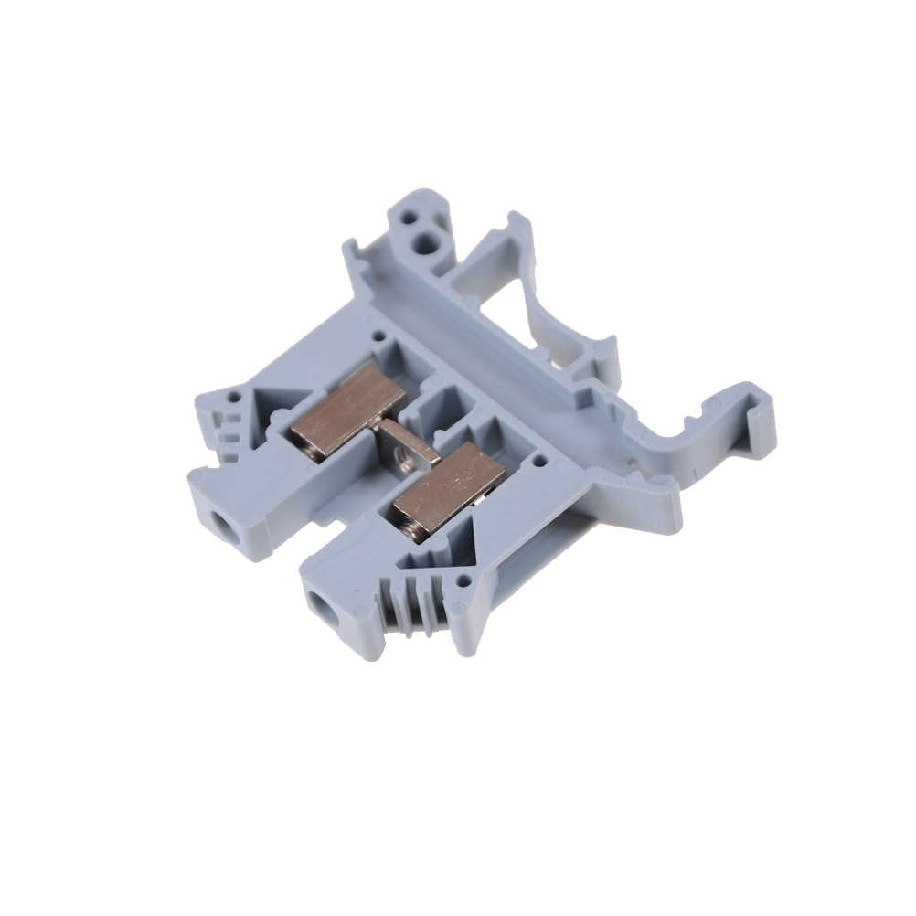 10Pcs UK2.5B Din Rail Universal Terminal Blocks Screw Jenis Kawat Kabel Listrik Terminal Blok Konektor Tembaga UK-2.5B 32A