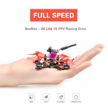Full Speed Beebee-66 LITE RC Drone FPV Racer ARF Omni bus F3 OSD 5.8G 40CH 4 In 1 6A Blheli_S ESC 1S Mini Racing Quadcopter(China)