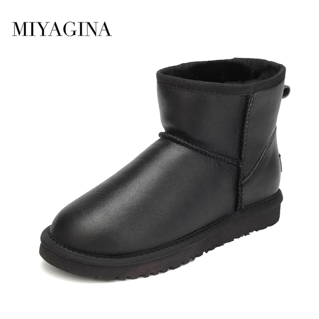 b8ac639f9aff4 Hot Sale High Quality Women Snow Boots Winter Warm Boots Genuine Sheepskin  Leather 100% Natural Fur Women Ankle Boots