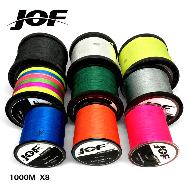 Cheap JOF 8 Strands 1000M 500M 300M PE Braided Fishing Line Japan Multicolour Saltwater Fishing Weave Superior Extreme Super Strong