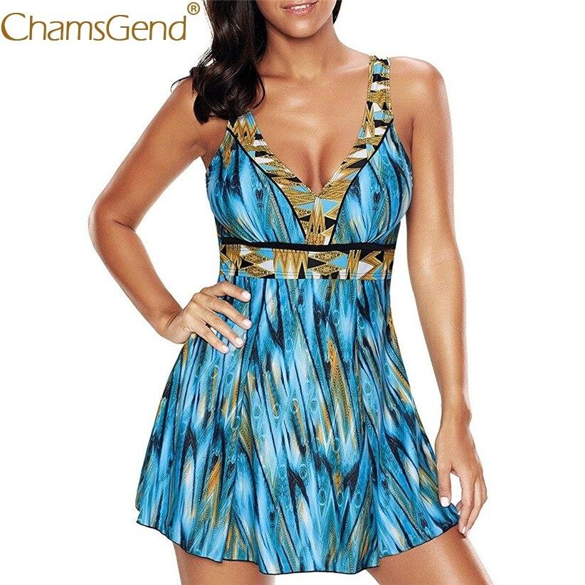 Printing Swimwear Women Tankinis Plus Size High Waist Bikini Swimsuit Woman Two Piece Suits Push Up Swimming Dress 90604