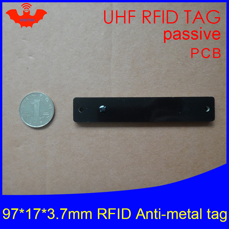 UHF RFID Metal Tag 915mhz 868mhz Alien Higgs3 EPCC1G2 6C 97*17*3.7mm Slim Goods Shelf PCB Smart Card Passive RFID Tags