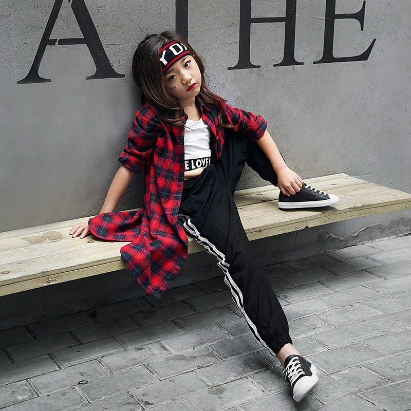 2018 Winter Fashion Children Jazz Dance Clothing Boys Girls Street Dance Hip Hop Dance Costumes ...