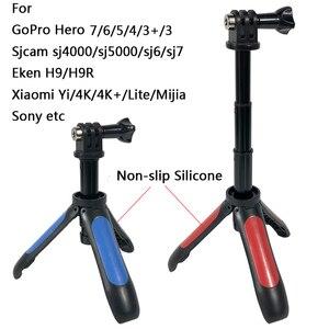 Image 5 - Mini tripé de mão para selfie, bastão monopé extensível para gopro hero 8 7 6 5 4 sjcam xiaomi, novo, 2019 yi 4k go pro câmera esportiva