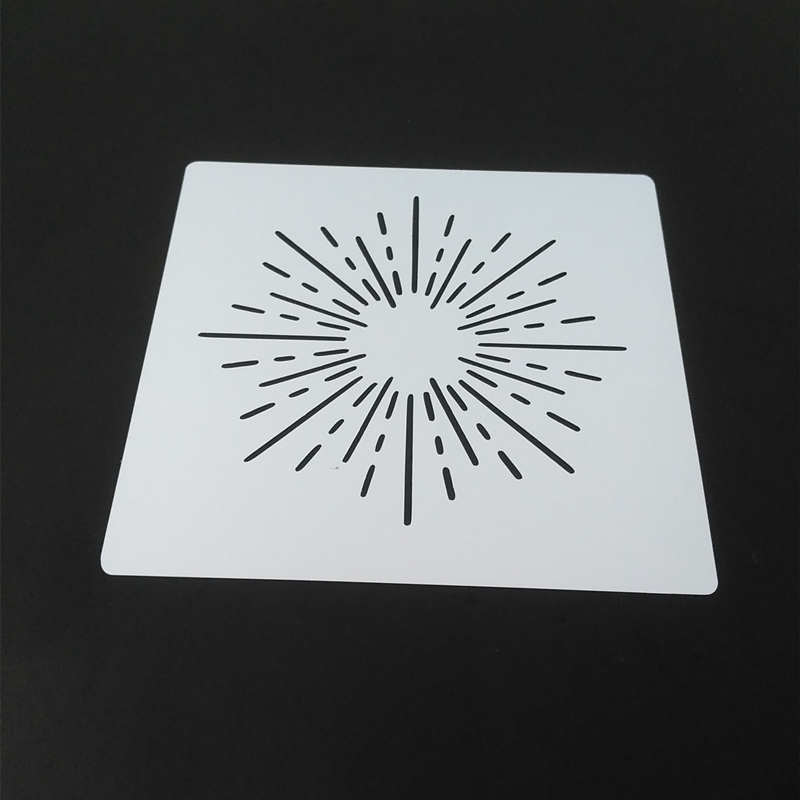 2 designs Sun Beam Vintage Heart Stencils Template Design for Scrapbooking Background modern plastic Stamping Stencils for diy