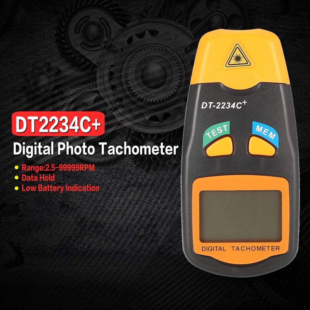 DT2234C+ Handheld LCD Digital Mini Non-contact Laser Photo Tachometer RPM Speed Measurement Meter Speedometer 2.5~99999RPMDT2234C+ Handheld LCD Digital Mini Non-contact Laser Photo Tachometer RPM Speed Measurement Meter Speedometer 2.5~99999RPM