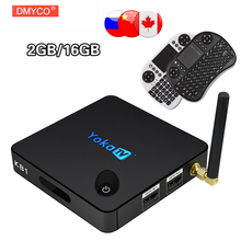 YOKATV KB1 Android 6.0 TV Box Amlogic S905X 2 GB/16 GB Quad Core 2.4G + 5.8G Double Bande WiFi BT 4.0 Mini PC Set-top box TV boîte
