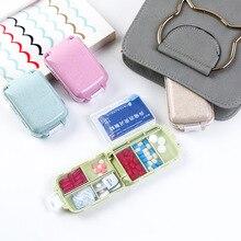 Pill Box Mini Medicine Tablet Week Pillbox Case Container Organizer Health Care Drug Travel Divider Portable Blue Tool