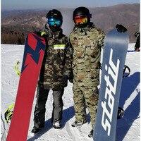 2018 Новый Для мужчин камуфляж двойной один лыжный костюм теплый толстый Открытый Альпинизм спорт водонепроницаемая Лыжная куртка Штаны
