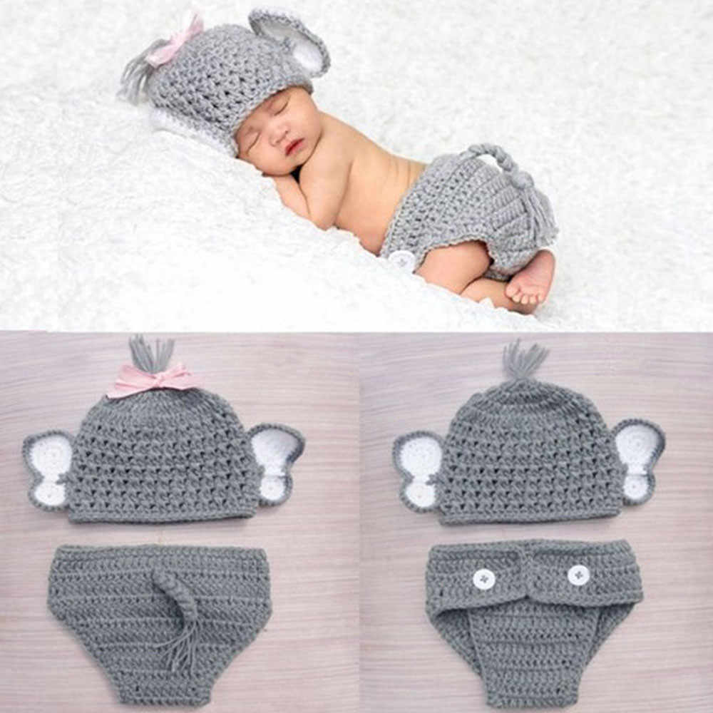 Hot Sale 2pcs Newborn Stretchy Knit Photo Baby Hat+Shorts Costume photography accessories DROPSHIPPING Hot Sales@30
