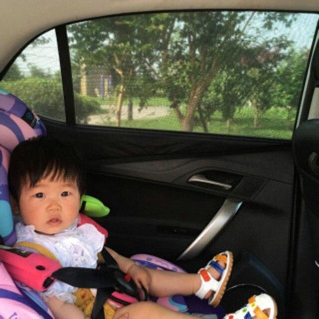 e47a32be1cf5 Vehicle Side Windows Sheld 2x Car Rear Window UV Mesh Sun Shades Blind Kids  Children Sunshade Blocker Black Blocker