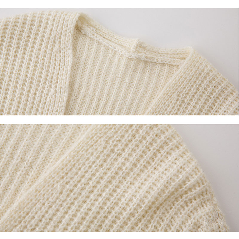 Womens Long Sleeve Cardigan Plus Size Chunky Knitted Sweater Ribbed