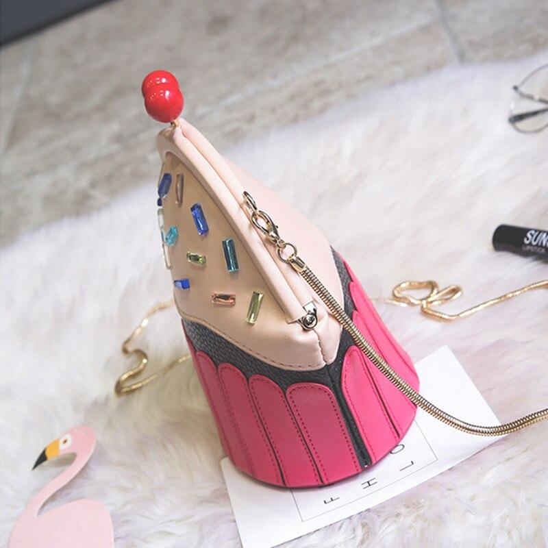 Cupcake Tas Es Krim Desain Modis Tas Kurir Wanita Rantai Bahu Tas Lolita  Lucu Selempang Tas d2a87e4d6a