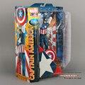 """Envío libre Superhéroe MARVEL Select The Avengers Captain America PVC Colección Figuras de Acción de Juguete de Regalo 10 """"25 cm HRFG022"""