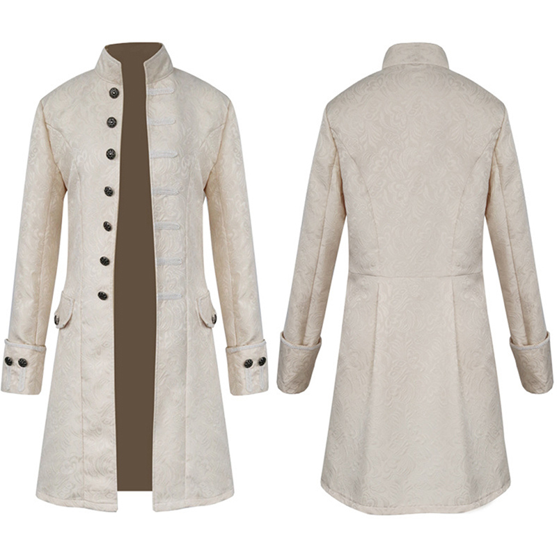 HTB1s4T8bcvrK1Rjy0Feq6ATmVXaZ Spring Retro Gothic Steampunk Jacket Men Vintage Floral Outerwear Coat Casual Windbreaker Button Mens Overcoat Plus Size Jacket