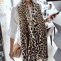 Otoño en Europa y América Del popular leopard bufandas de algodón Mujeres de gran tamaño bufanda del mantón de Vacaciones