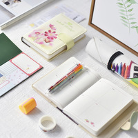 MIRUI Cute Leather Notebooks Cartoon Agenda Planner Organizer Diary Weekly Planner Filofax Christmas Gift Stationery Set