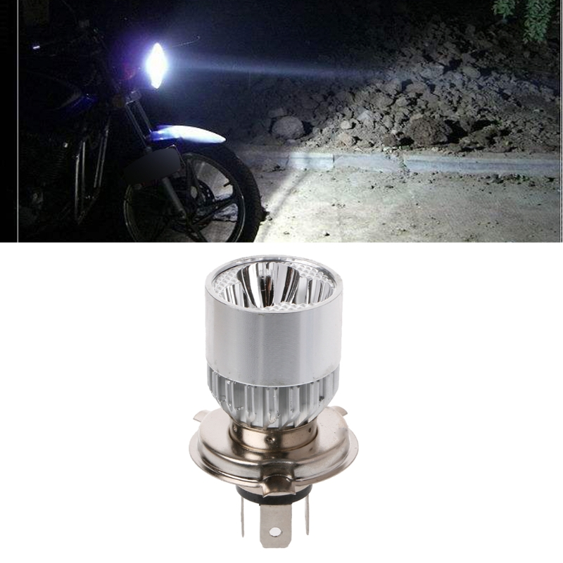 Hot New 1 Pc Universal DC <font><b>12</b></font>-<font><b>80V</b></font> H4 3 <font><b>LED</b></font> Motorcycle Headlight Bulb Hi/Lo Scooter Lamp ATV Fog Light High Quality image