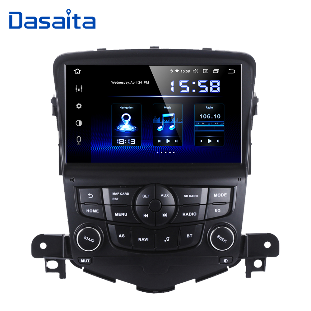 Dasaita Car <font><b>2</b></font> <font><b>Din</b></font> <font><b>Android</b></font> 9.0 <font><b>GPS</b></font> for Chevrolet Cruze 2008 2009 2010 2011 Auto <font><b>Radio</b></font> 8