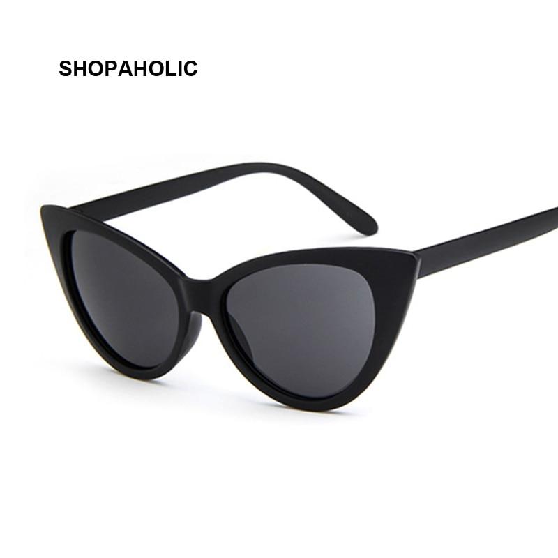Women Cat Eye Sunglasses Vintage Brand Designer Sun Glasses Sexy Small Frame Black White Cateye Sun Glasses UV400 Female