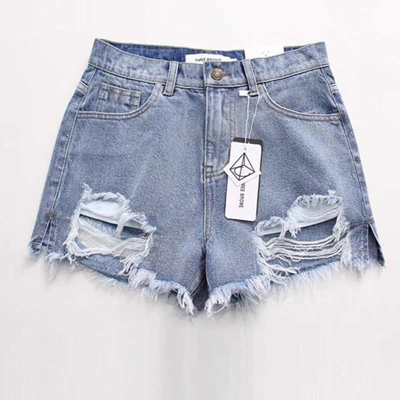 1e5184a686 ... Fashion Summer Denim Womens Shorts Sexy Butt Ripped Jeans Shorts Fringe  High Waisted Shorts For Women ...