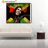 New Arrive Custom Framed Picture Bob Marley Classic Canvas Prints Realistic DIY Oil Painting Fabric Printed