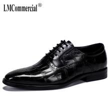 High Quality Genuine Leather Shoes Men,Lace-Up Business Men Shoes,Men Dress Shoes autumn winter British retro mens shoes cowhide warkings reborn