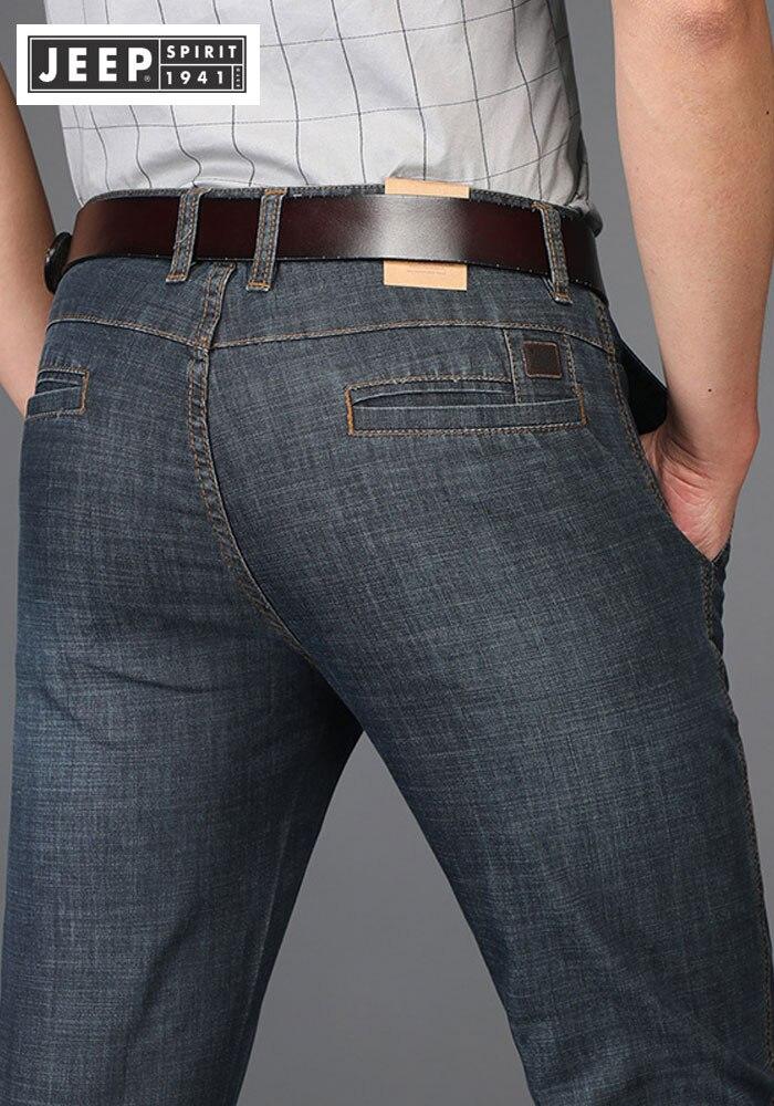 Летние JEEP брендовые хлопковые Смарт повседневные джинсы эластичные мужские повседневные длинные европейские и американские джинсы хлопко