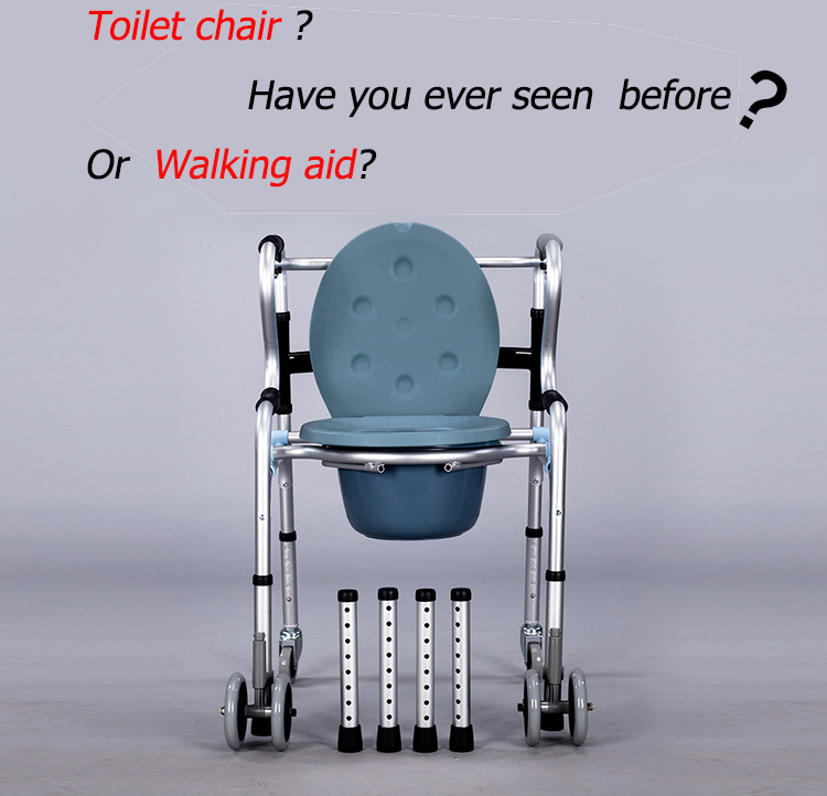 The MEDICAL multi function WALKING AID with wheels and toliet ...