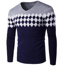 Men Sweater Time-limited New Arrival Standard Casual Pullovers V-neck 2017 Men's Winter Sweater V Neck Knit Shirt