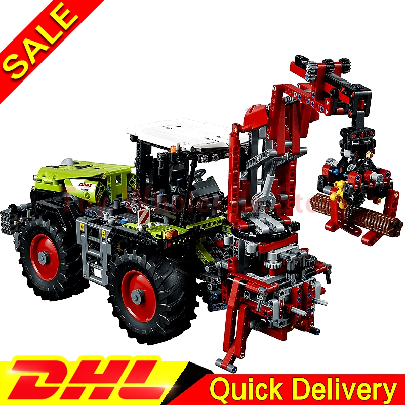 LEPIN 20009 1977Pcs Technic Technic Claas Xerion 5000 Trac Vc Model Building figures Blocks Brick lepins Toy Gift Clone 42054 siku трактор claas xerion 5000