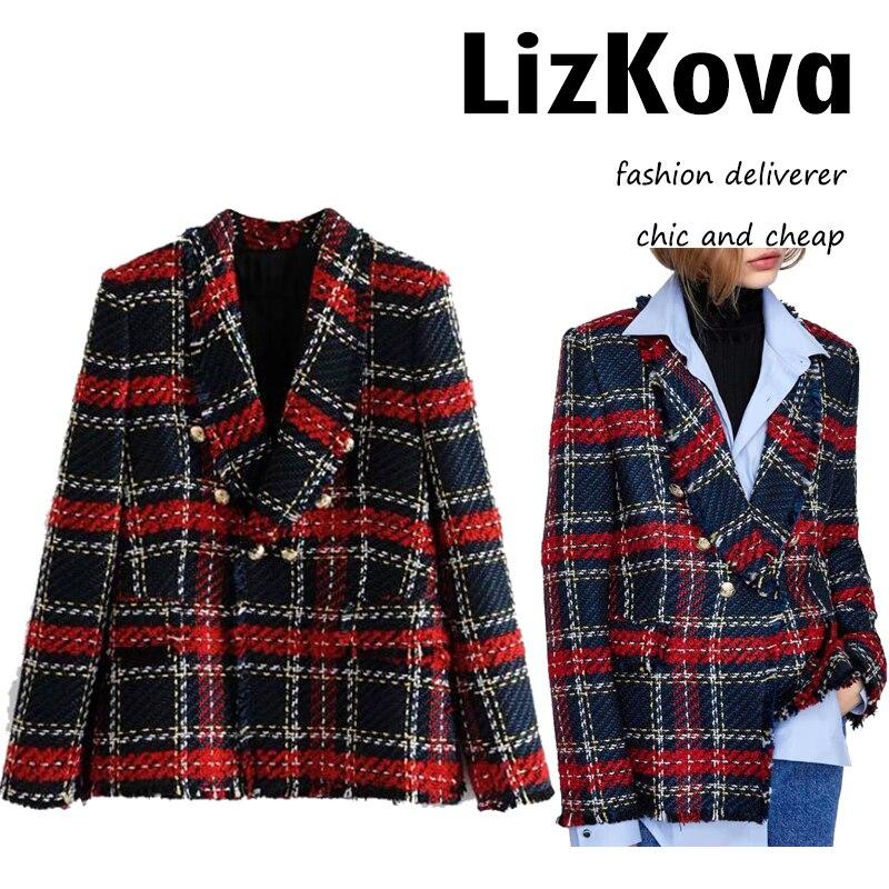 8adfa076fe3 Осень-зима саржа шерстяные пальто Для женщин двубортный тонкий куртка с  отложным воротником Металлическая пуговица