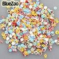 BlueZoo 1000 unids/pack Diseño Mezclado Nail Art Fimo Rebanadas Arcilla Decoración 3D Nail Art Decoración Diy Consejos Diseño UVGel Uñas etiqueta