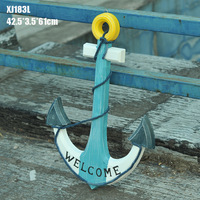 of Mediterranean anchor 61cm anchor wood ornaments accessories manufacturers Home Furnishing Home Furnishing XJ183L