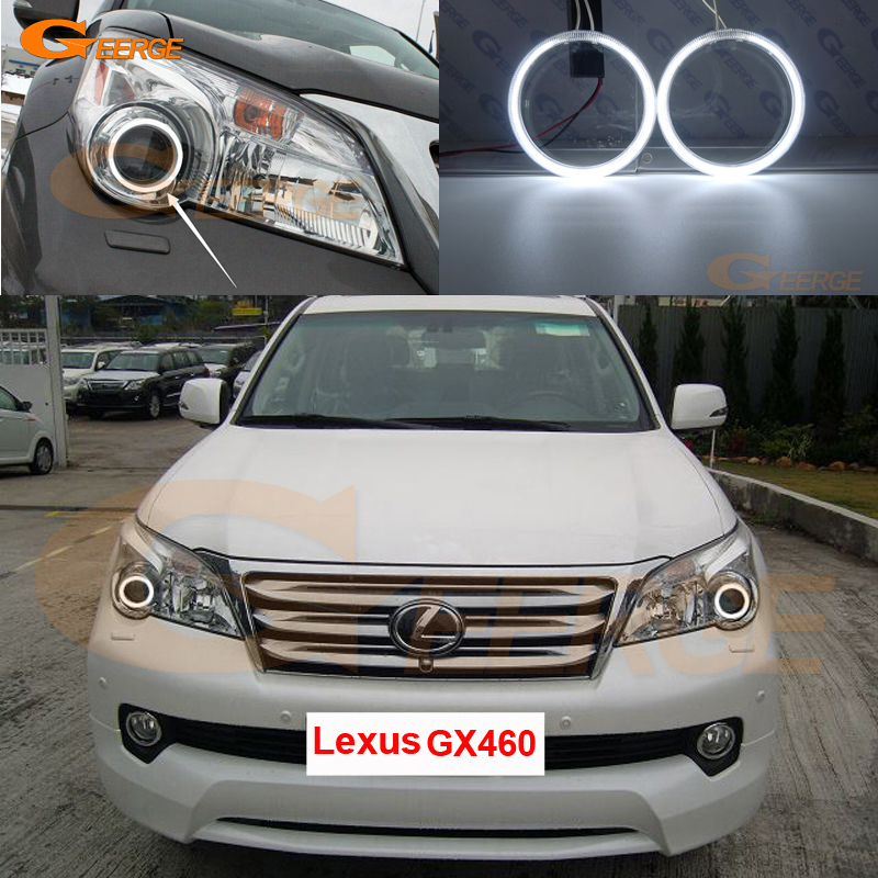 For Lexus GX460 2010 2011 2012 2013 Excellent angel eyes Ultra bright illumination CCFL Angel Eyes Halo Ring kit