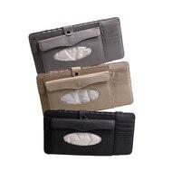 Dongzhen 1X 3 in 1 Car CD Bag DVD Disk Card Holder Cases Auto Sunshade Sun Visor Storage Bags Folder Pocket Pouch Car-styling