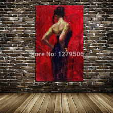 Free Shipping Home Beauty Pure Hand painted oil painting Sexy lady wall canvas picture paint Figure Wall Decoration