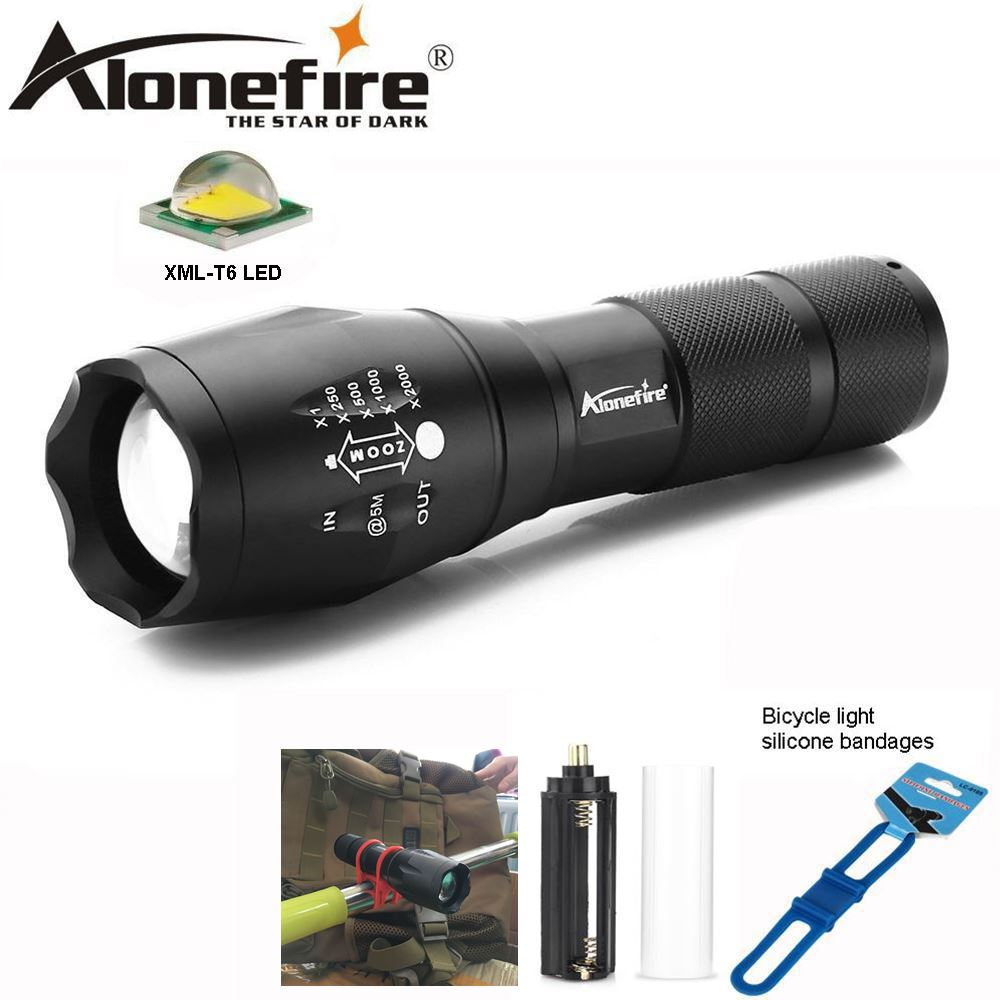AloneFire E17 CREE XM-L T6 LED Flashlight Torch bike Lamp 5Modes linterna led zaklamp bicycle fishing light for 18650 AA battery 3800lm xm l t6 5modes led tactical flashlight torch waterproof hunting flash light lantern zaklamp taschenlampe torcia 5pcs