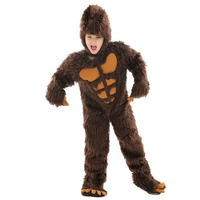 Kids Grizzly Bear Cosplay Costume Thick Warm Animals Pajamas Gift for Child Halloween cosplay Jumpsuit 3~7 Years